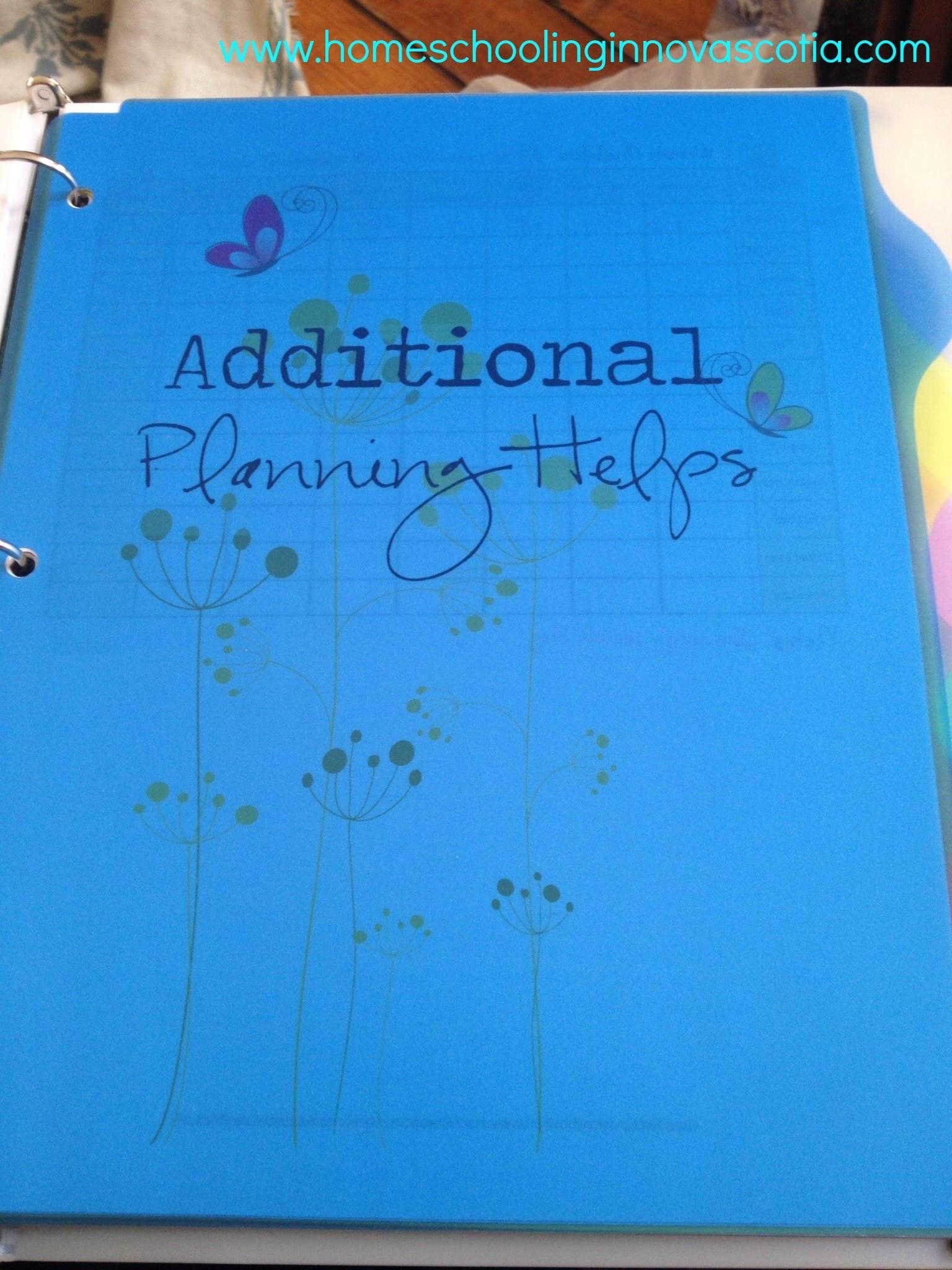 Planner binder