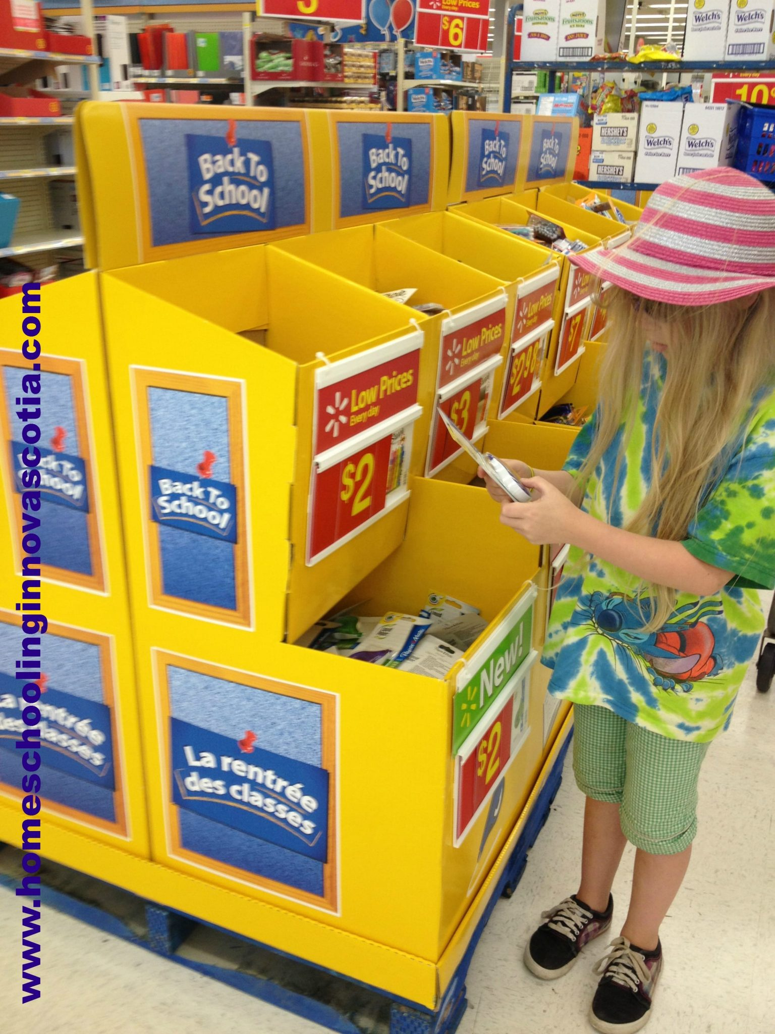 My daughter checking out Back to School deals #shop