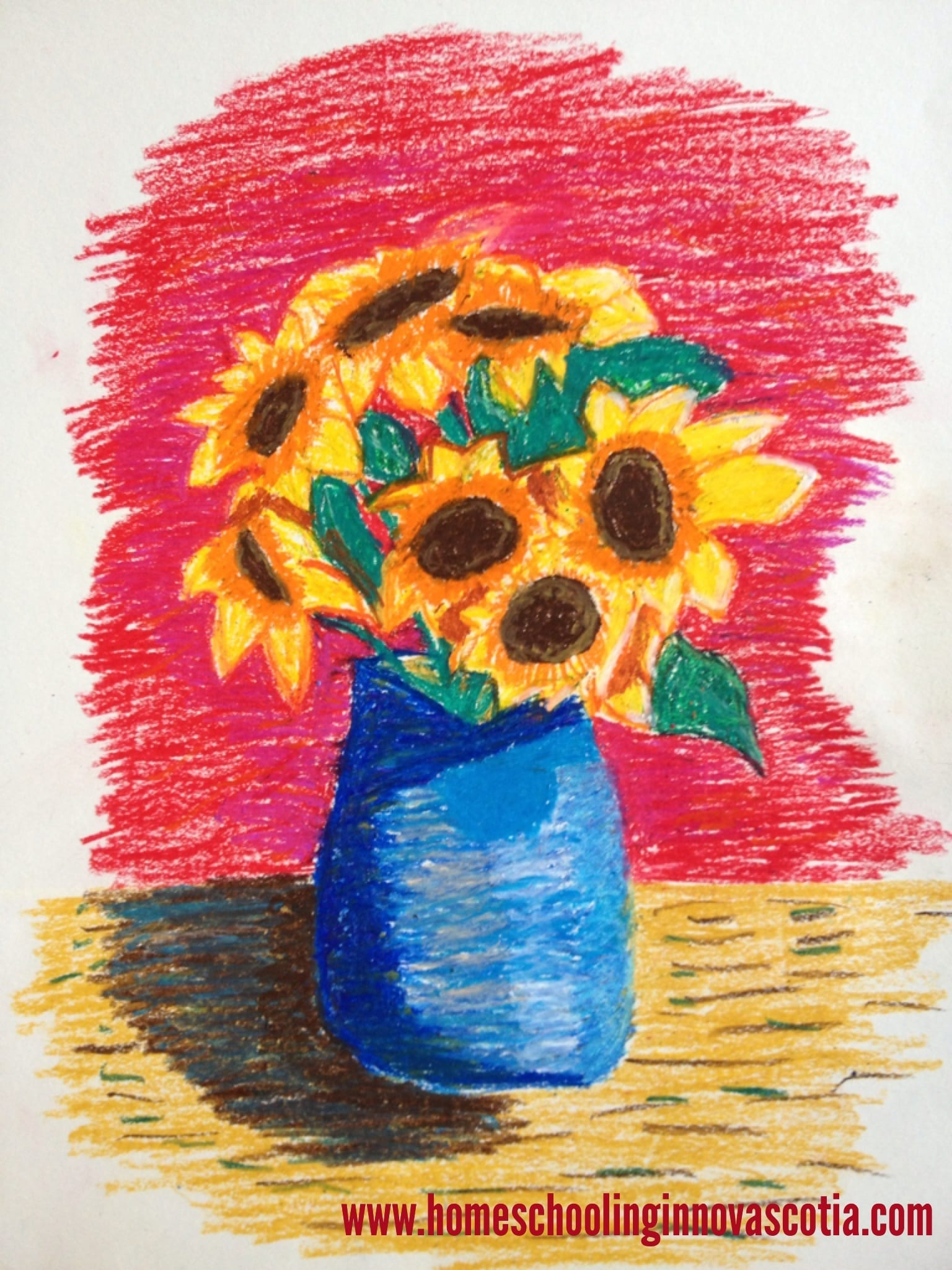 My 9 year old's sunflower creation