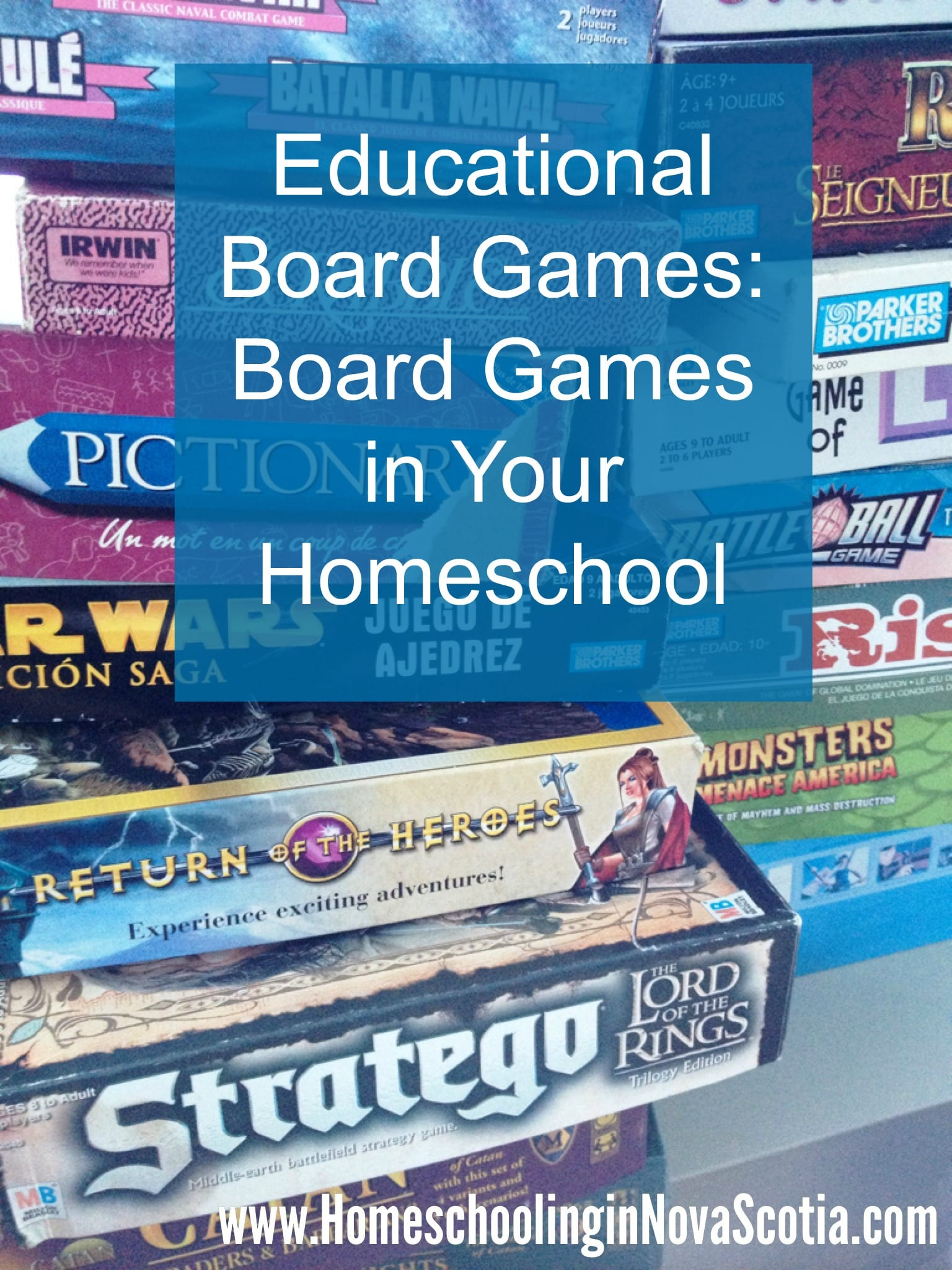 Educational Board Games: Board Games in Your Homeschool