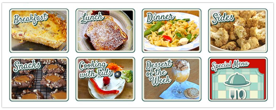 meal planning with build a menu