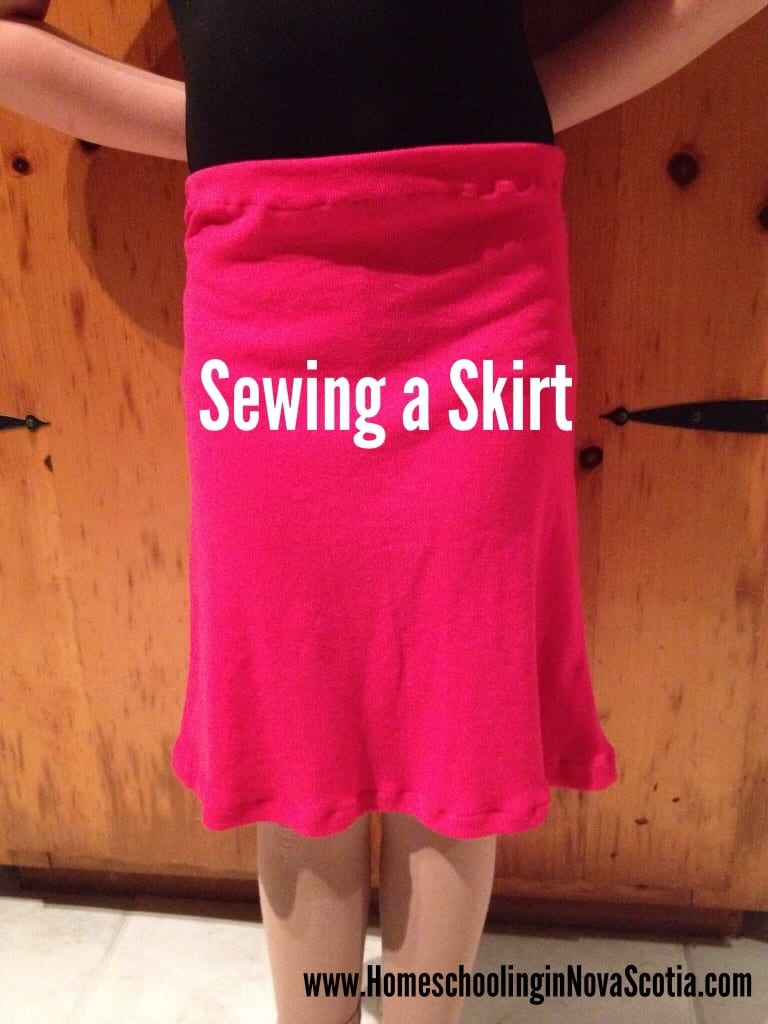 sewing a skirt