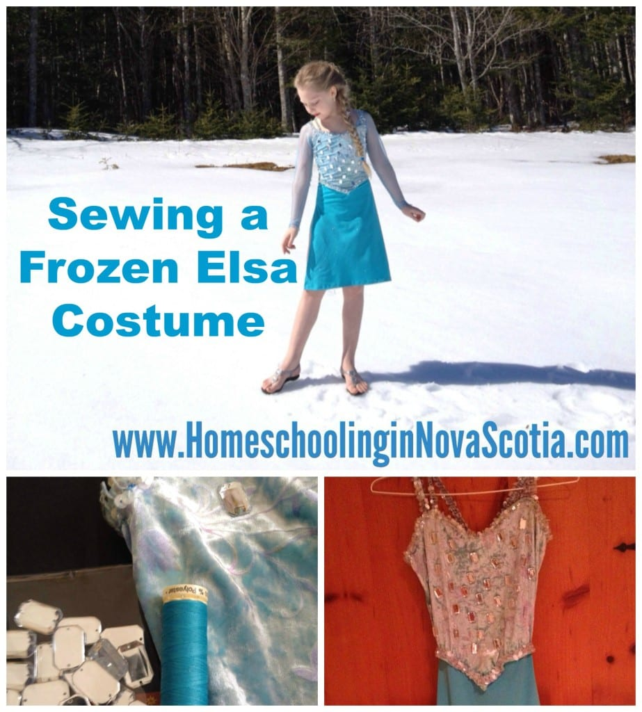 sewing a frozen elsa costume