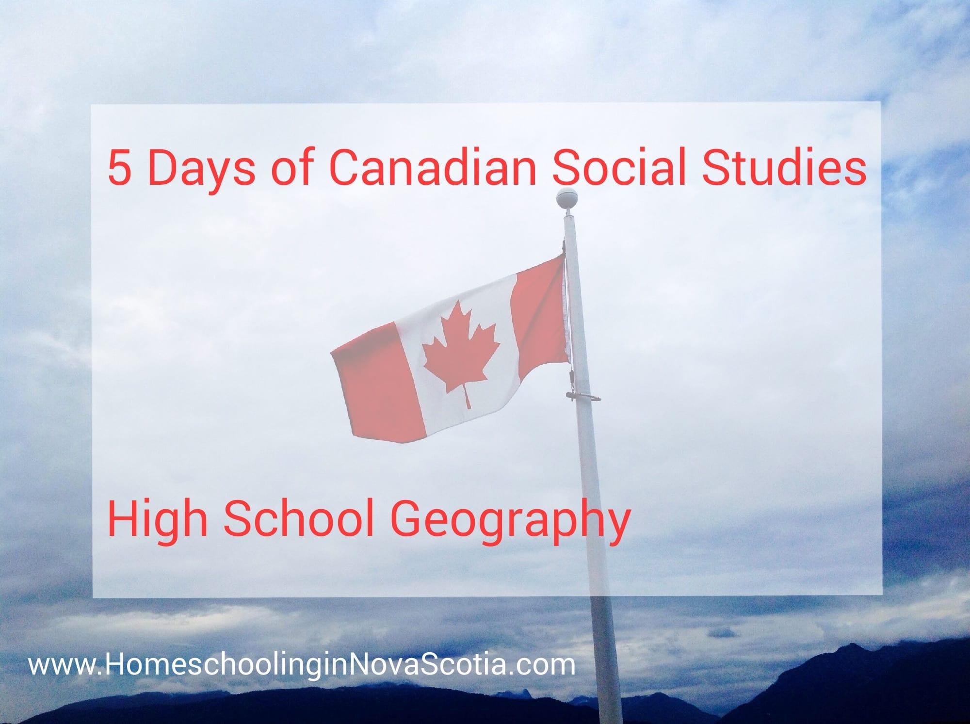 high school geography