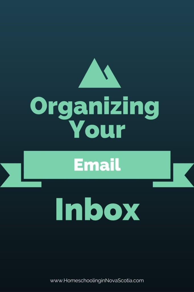 organizing your email inbox
