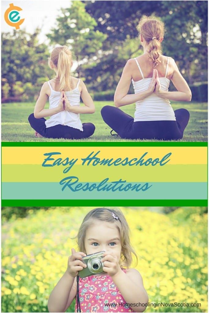 easy homeschool resolutions