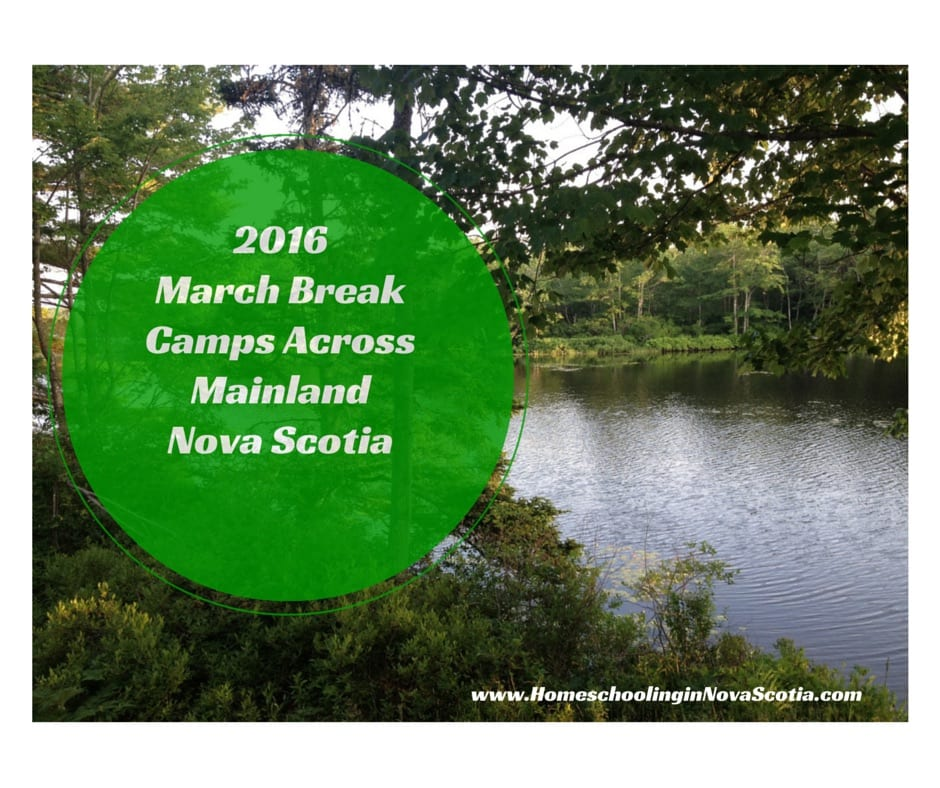 2016 Nova Scotia March break camps