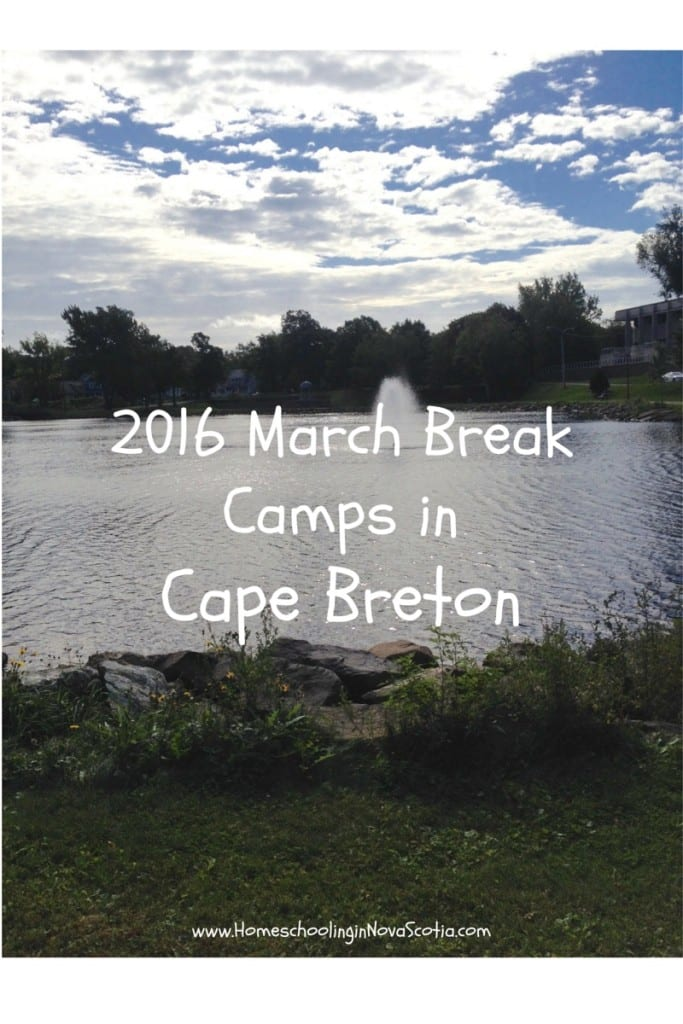 2016 Cape Breton March break camps