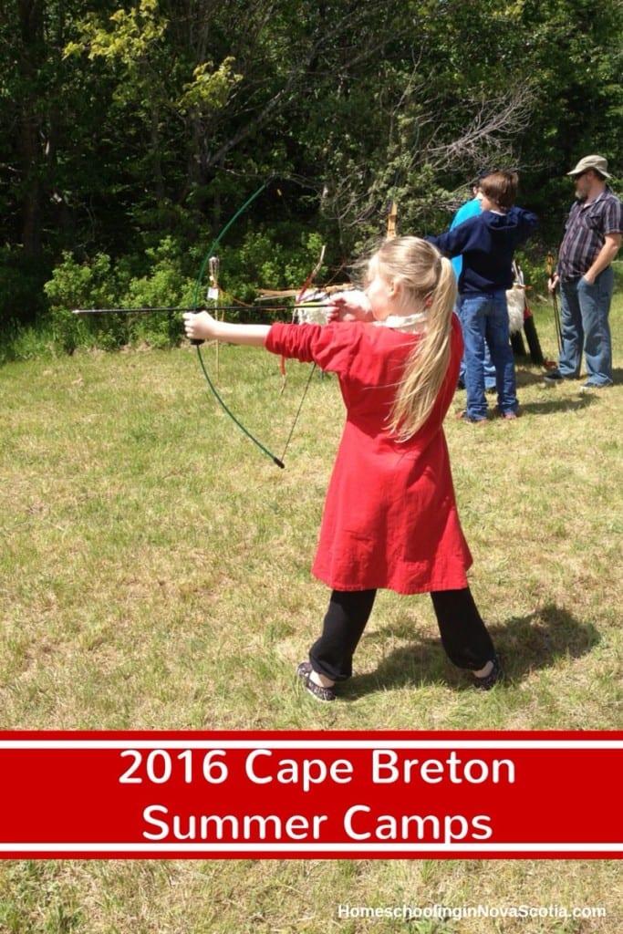 2016 Cape Breton summer camps