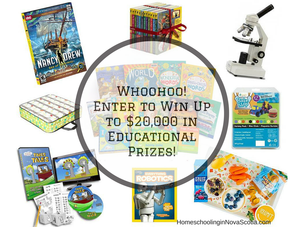 enter to win up to $20,000 in educational prizes