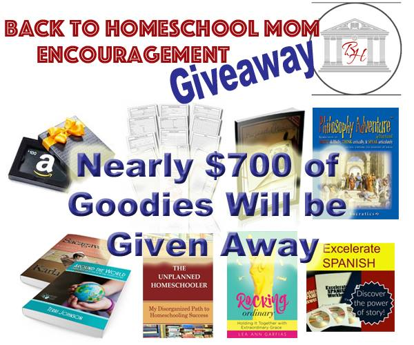 back to homeschool giveaway and sale