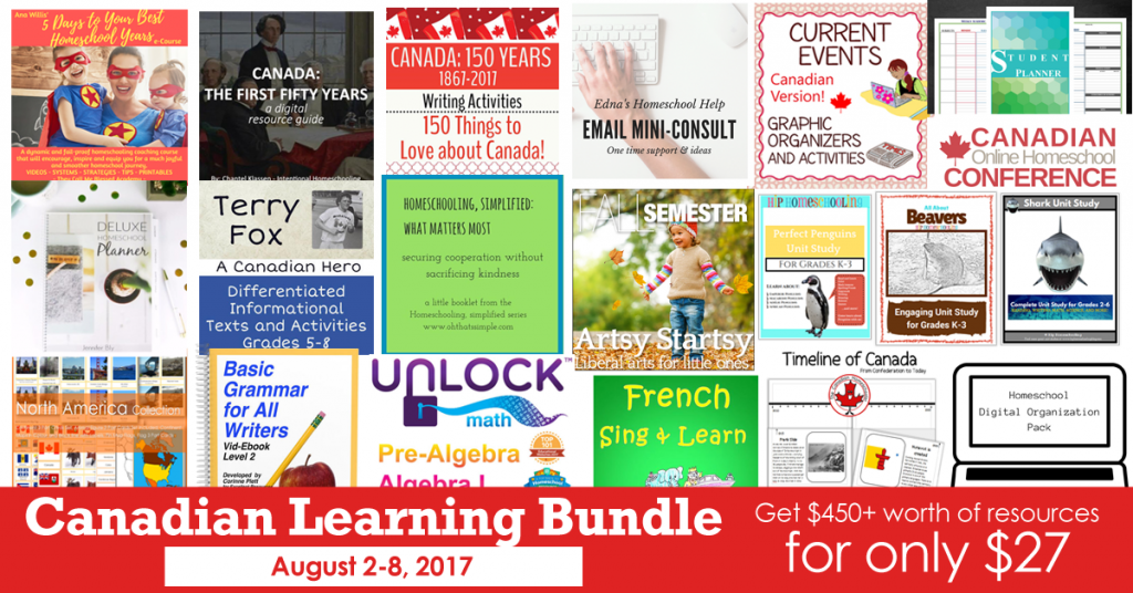 canadian homeschool resource sale