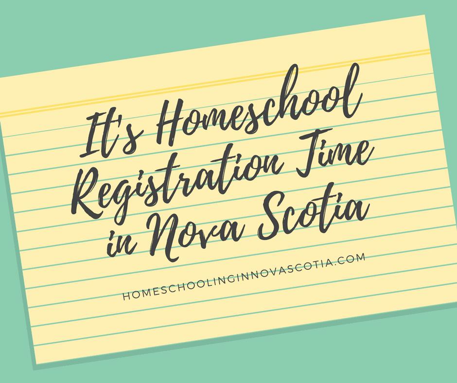 it's homeschool registration time